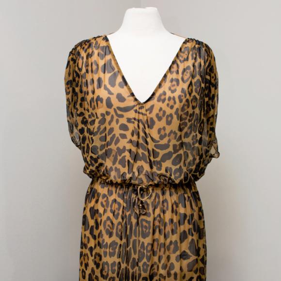 7561d1cdf8e09 Ralph Lauren Womens Leopard Print Sheer Dress Swim.  M 5b6a5d1b61974566e64f3197. Other Swims you may like. Navy French Terry  Halter Dress Swimwear Cover-up M